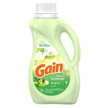 Gain Liquid Fabric Softener with FreshLock, 60 Loads, Original Fresh
