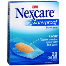 Nexcare Waterproof Clear Bandages 1 1/16in x 2 1/4in