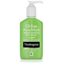 Neutrogena Oil-Free Acne Wash Foaming Facial Cleanser Redness Soothing