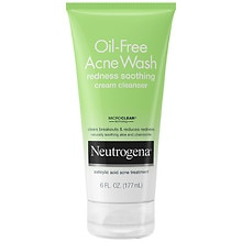 Neutrogena Oil-Free Acne Wash Cream Cleanser Redness Soothing