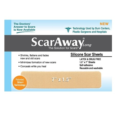 ScarAway 1.5 in. x 7 in. Fabric-Backed, Protective Silicone Scar Sheets