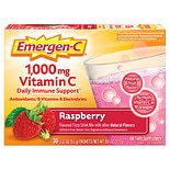 Emergen-C 1000 mg Vitamin C Dietary Supplement Raspberry Fizzy Drink Mix 30 Pack Raspberry