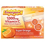 Emergen-C 1000 mg Vitamin C Dietary Supplement Super Orange Fizzy Drink Mix 30 Pack Super Orange