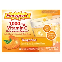 1000 mg Vitamin C Dietary Supplement Tangerine Fizzy Drink Mix, Tangerine