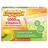 Emergen-C 1000 mg Vitamin C Dietary Supplement Lemon Lime Fizzy Drink Mix Lemon Lime