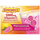 Emergen-C 1000 mg Vitamin C Dietary Supplement Pink Lemonade Fizzy Drink Mix Pink Lemonade