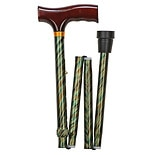 Lightweight Adjustable Designer Cane, Derby TopCyclone Green