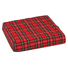 Mabis Convoluted Foam Chair Pad, Seat with Plaid Cover