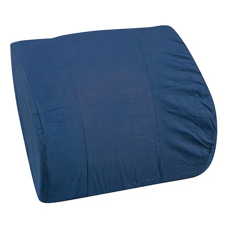 Mabis Memory Foam Lumbar Cushion Navy