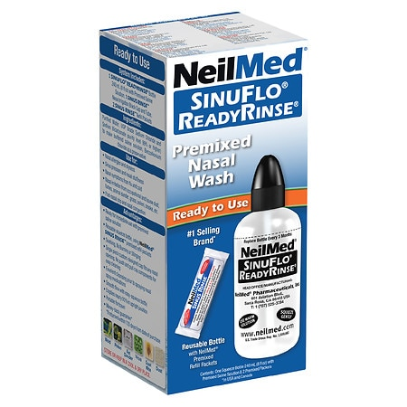 NeilMed Sinuflo Ready Rinse Premixed Nasal Wash Kit