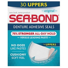 Sea-Bond Denture Adhesive Wafers Uppers Original