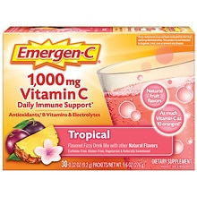 Emergen-C 1000 mg Vitamin C Dietary Supplement Fizzy Drink Mix Tropical