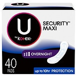 Kotex Natural Balance Overnight Maxi Pads