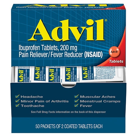 Advil Ibuprofen, 200mg 50 pk