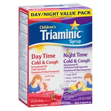 Triaminic Daytime/Nighttime Cough Cold Combo Pack Cherry/Grape