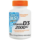Doctor's Best Best Vitamin D3, 2000 IU, Softgels