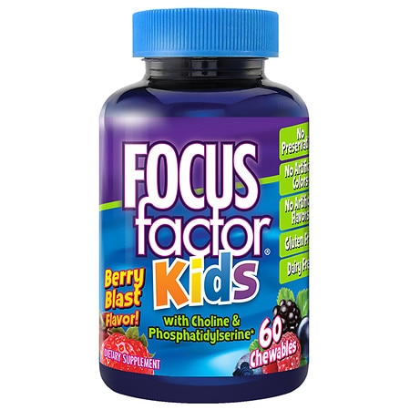Focus Factor for Kids Brain Health Dietary Supplement Chewable Wafers