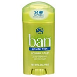 Ban Invisible Solid, Antiperspirant & Deodorant Powder Fresh