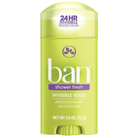 Ban Invisible Solid, Antiperspirant & Deodorant Shower Fresh