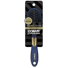 Conair Brush Velvet Touch Detangle & Style Hair Brush Black