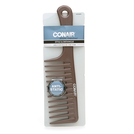 Conair Brush Styling Essentials Style & Detangle Comb, Great for Thick & Curly Hair Colors May Vary