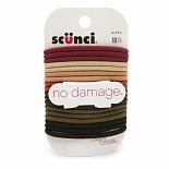 Scunci Effortless Beauty No Damage Hair Elastics Natural