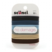 Scunci Effortless Beauty No Damage Hair Elastics Blues