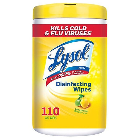 Lysol Disinfecting Wipes Lemon Lime