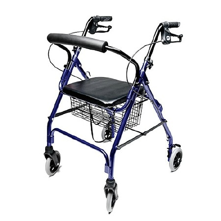 Lumex Walkabout Lite 4 Wheel Rollator Blue