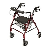 Lumex Walkabout Lite 4 Wheel Rollator Burgundy
