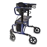 Combination Rollator and Transport Chair Blue