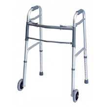 Dual Release Walker with Wheels