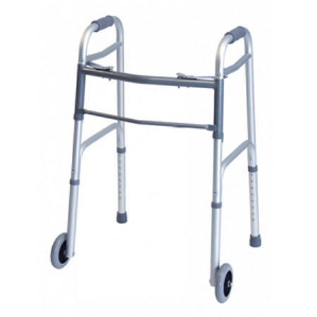Lumex Dual Release Walker with Wheels