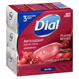 Dial AntiOxidant Glycerin Soap Bars 3 Pack Cranberry & AntiOxidant