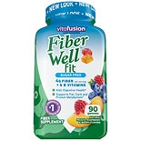 Vitafusion Fiber Well Weight Management Fiber Supplement Gummies Peach, Strawberry & Berry