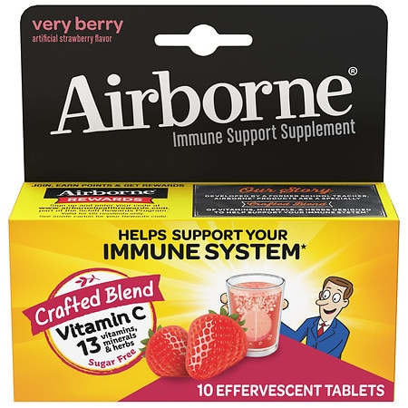 Airborne Health Formula Effervescent Tablets Very Berry