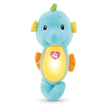 Fisher-Price Soothe & Glow Seahorse, Ages 0-36 months, Blue