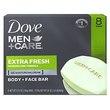 Dove Men+Care Men+Care Body and Face Bars 8 Pack Extra Fresh Extra Fresh