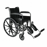 Travelers SE Steel Wheelchair Standard with Fixed Full Arms and Elevating LegresBlack