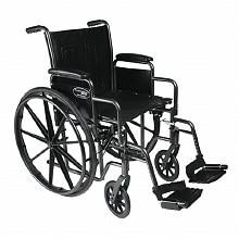 Travelers SE Steel Wheelchair Standard w/ Removable Desk Arms & Swingaway Footre, Black
