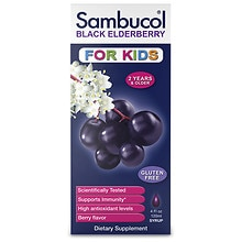 Black Elderberry Immune System Support Liquid For Kids Berry