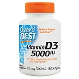 Doctor's Best Best Vitamin D3 5000 IU, Softgel Capsules