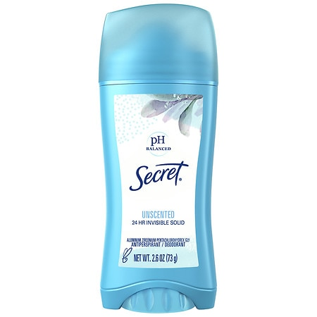 Secret Antiperspirant & Deodorant Invisible Solid Unscented