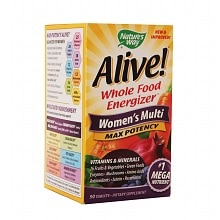Nature's Way Alive! Whole Food Energizer Women's Multivitamin & Mineral  Dietary Supplement