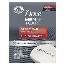 Dove Men+Care Men+Care Body and Face Bars 2 Pack Deep Clean Deep Clean