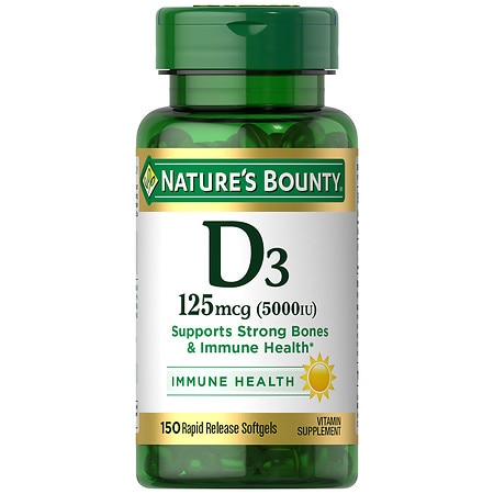 Nature's Bounty D-5000 IU Vitamin Supplement Softgels