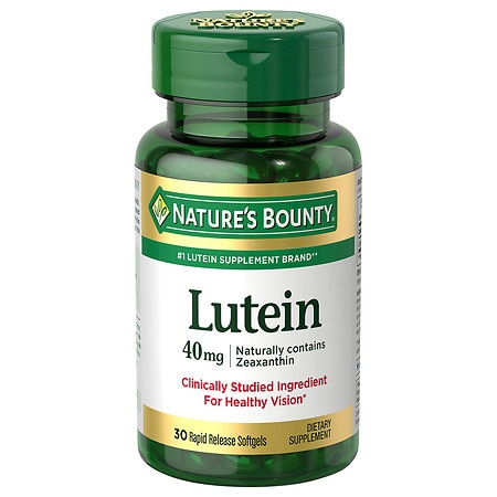 Nature's Bounty Lutein 40 mg Dietary Supplement Softgels