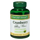 Cranberry 4200 mg Plus Vitamin C Dietary Supplement SoftgelsTriple Strength