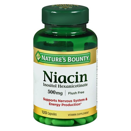 Nature's Bounty Niacin 500 mg Vitamin Supplement Capsules