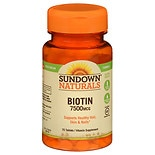 Sundown Naturals Biotin 7500 mcg Dietary Supplement Tablets